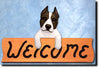 American Staffordshire Terrier Wood Welcome Sign