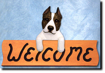 American Staffordshire Terrier - Dog Welcome Sign