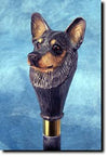Australian Cattle Dog Head Hiking Staff