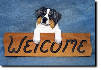 Australian Shepard Welcome Sign