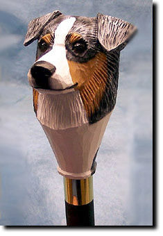 Australian Shepherd Dog Hand-painted Walking Cane Stick