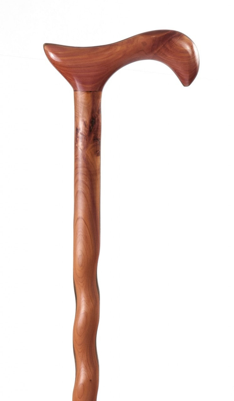 Ladies Twisted Aromatic Cedar Derby Walking Cane
