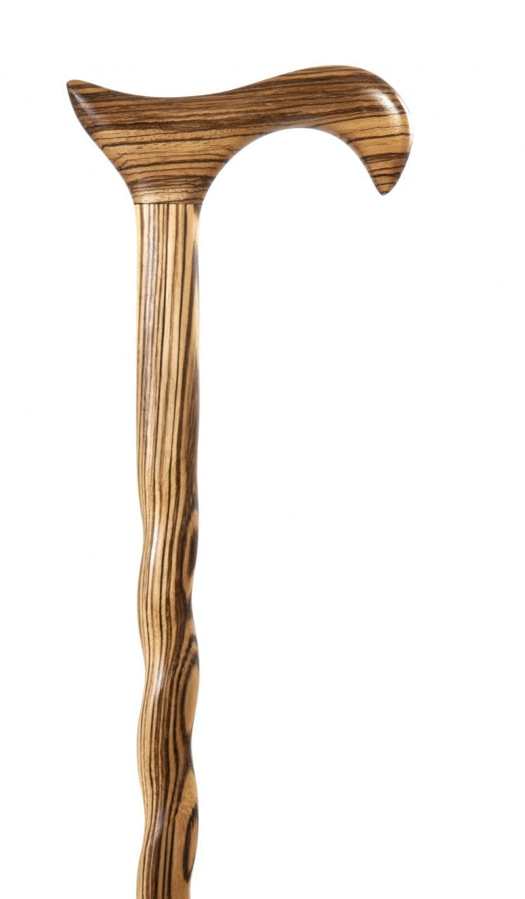 Zebrawood Derby Walking Cane