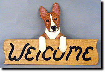 Basenji - Dog Welcome Sign