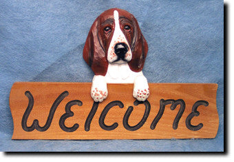 Bassett Hound Welcome Sign