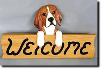Beagle - Dog Welcome Sign