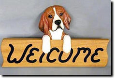 Beagle Welcome Sign