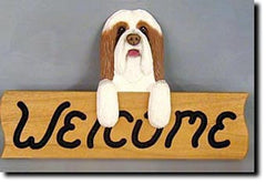 Bearded Collie Welcome Sign