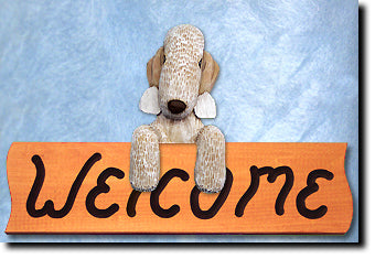 Bedlington Terrier - Dog Welcome Sign