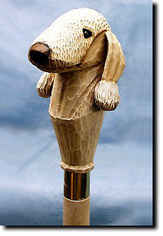 Bedlington Terrier Dog Hand-painted Walking Hiking Stick