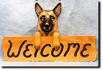 Belgian Malinois - Dog Welcome Sign