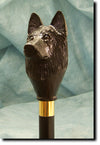 Belgian SheepDog Hand-painted Walking Hiking Stick