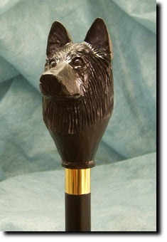 Belgian Sheepdog Walking Stick