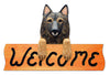 Belgian Tervuren Dog Wood Welcome Sign
