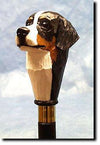 Bernese Mt Dog Hand-painted Walking Hiking Stick