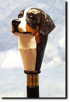 Bernese Mt Dog Walking Stick