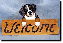 Bernese Mt Dog Welcome Sign