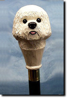 Bichon Frise Dog Walking Stick