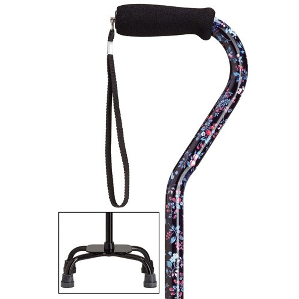 Blackberry Fashion Quad Cane Small Base