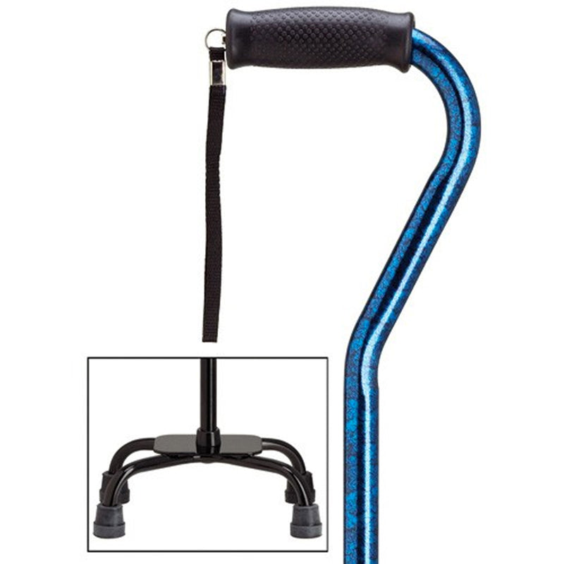 Blue Granite Fashion Quad Cane Large Base