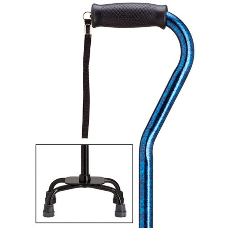 Blue Granite Fashion Quad Small Base Cane