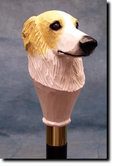 Borzoi Dog Hand-painted Walking Hiking Stick