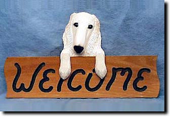 Borzoi Welcome Sign