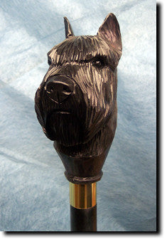Bouvier Des Flandres Dog Hand-painted Walking Hiking Stick