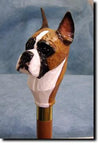 Boxer Dog Hand-painted Walking Hiking Stick