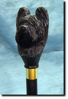 Briard Dog Hand-painted Walking Cane Stick