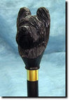 Briard Dog Hand-painted Hiking Staff