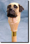 Bullmastiff Dog Hand-painted Hiking Staff