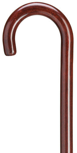 1 Inch Round Nose Crook Cane Mahogany Tall