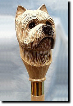 Cairn Terrier Dog Hand-painted Walking Cane Stick