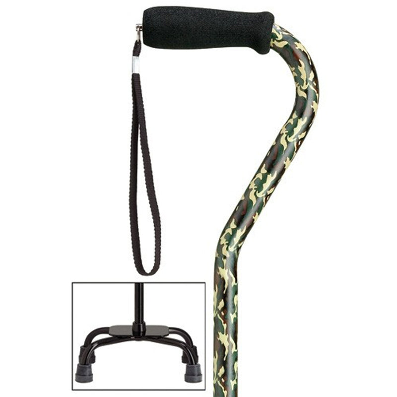 Camouflage Fashion Quad Cane Large Base