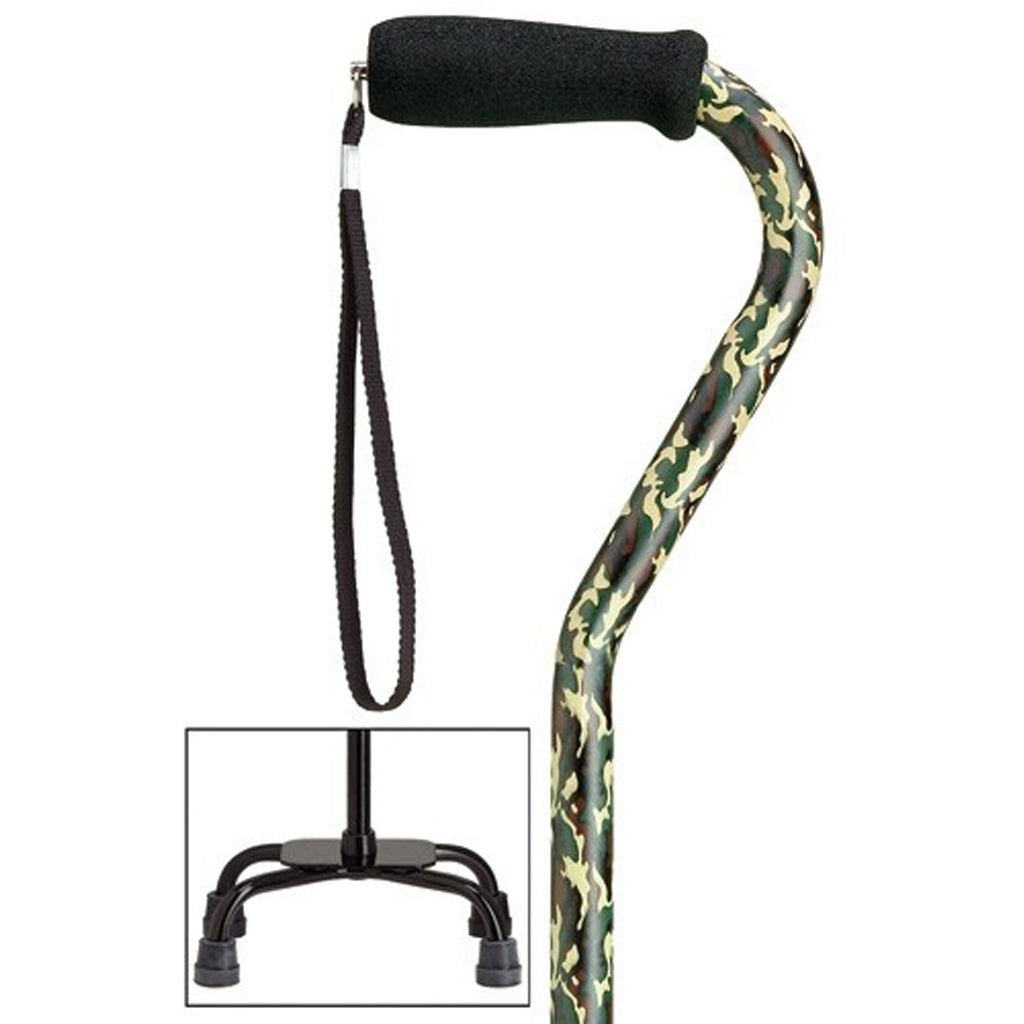 Camouflage Fashion Quad Cane Small Base