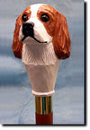 Cavalier King Charles Spaniel Dog Hand-painted Walking Cane Stick