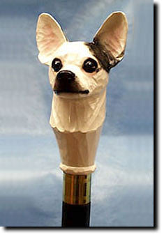 Chihuahua Dog Hand-painted Walking Cane Stick