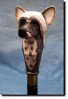 Chinese Crested Dog Hand-painted Walking Cane Stick