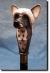Chinese Crested Dog Hand-painted Hiking Staff