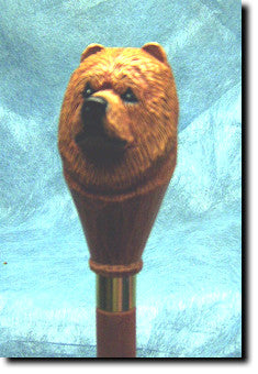 Chow Chow Dog Hand-painted Walking Cane Stick