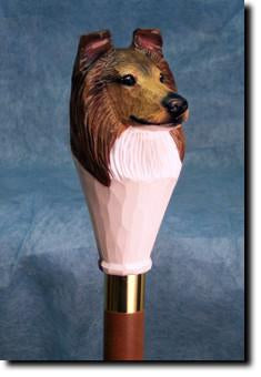 Collie Dog Hand-painted Hiking Staff