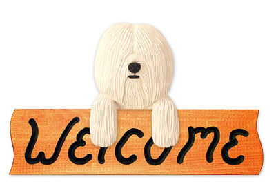 Coton de Tulear Wood Welcome Sign
