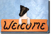 Fox Terrier Smooth Wood Welcome Sign