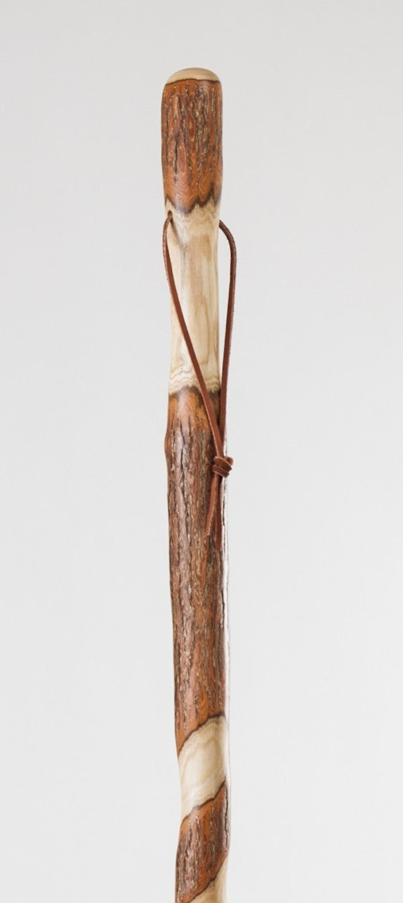 Free Form Twisted Sassafras Walking Stick Brazos Wooden
