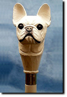 French Bull dog Hand-painted Walking Cane Stick