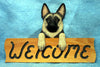 German Shepherd Dog Wood Welcome Sign