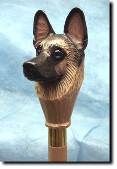 German Shepherd Dog Hand-painted Walking Cane Stick