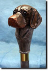 German Short Hair Pointer Dog Hand-painted Hiking Staff