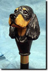 Gordon Setter Dog Hand-painted Hiking Staff